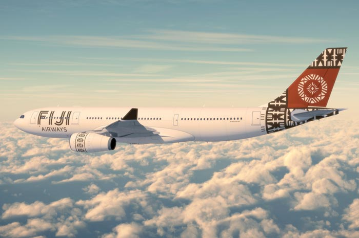 Fiji Airways in the sky
