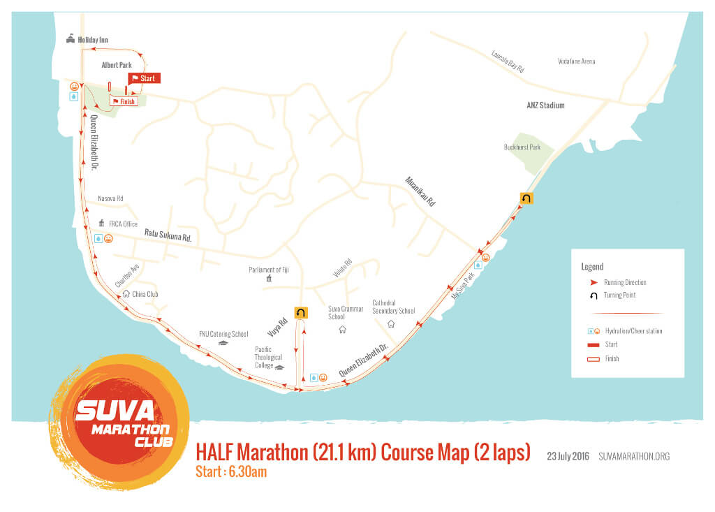 Course maps online now - Island Chill Suva Marathon 2019