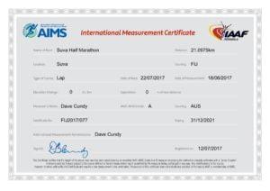 AIMS Certificate Suva