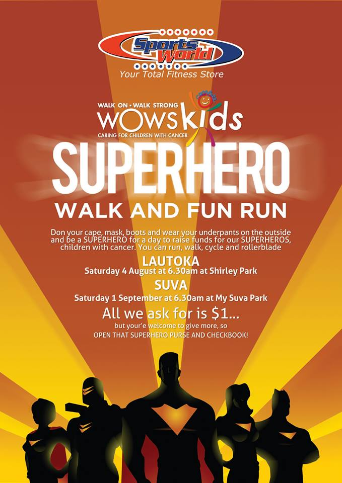 Be a SUPERHERO for a day to raise funds for our Superheros, children with CANCER.