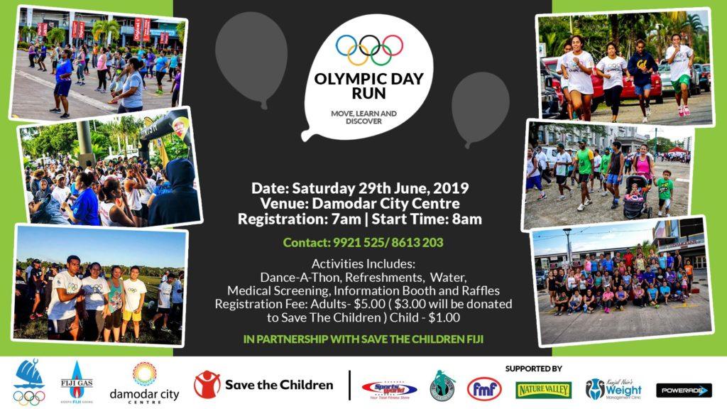 Olympic Day Run 2019 - Saturday 29th June - 8 00am - Island